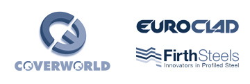 Coversworld, Euroclad and Firth Steels logos